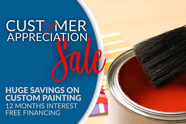 Customer Apperciation Sale - Huge Savings on Custom Paint - 12 Months Interest Free Financing