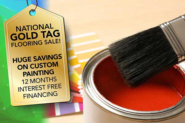Get huge savings on custom painting during our National Gold Tag Sale at Ultimate Flooring & Paint